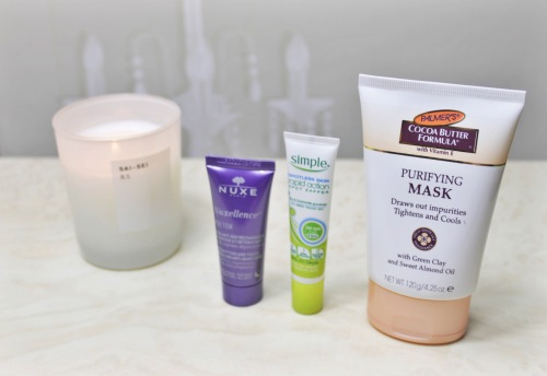 simple spot roll on purfiying mask palmers nuxe detox cream